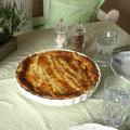 Spargel-Quiche zum Mittagessen gemacht