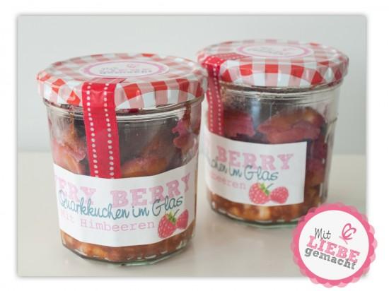 very berry rezept quarkkuchen im glas mit himbeeren cozy and cuddly. Black Bedroom Furniture Sets. Home Design Ideas