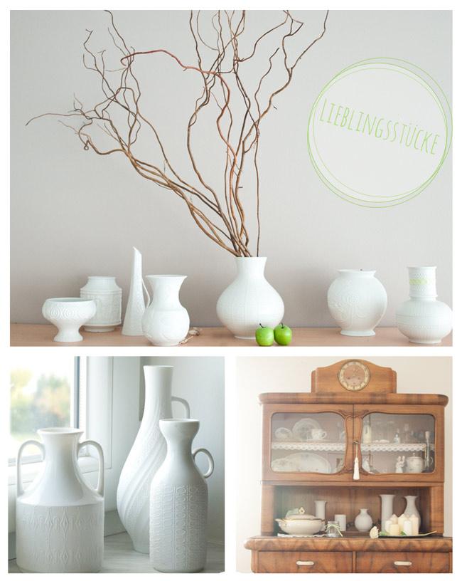 lieblingsst cke wei e vasen cozy and cuddly. Black Bedroom Furniture Sets. Home Design Ideas