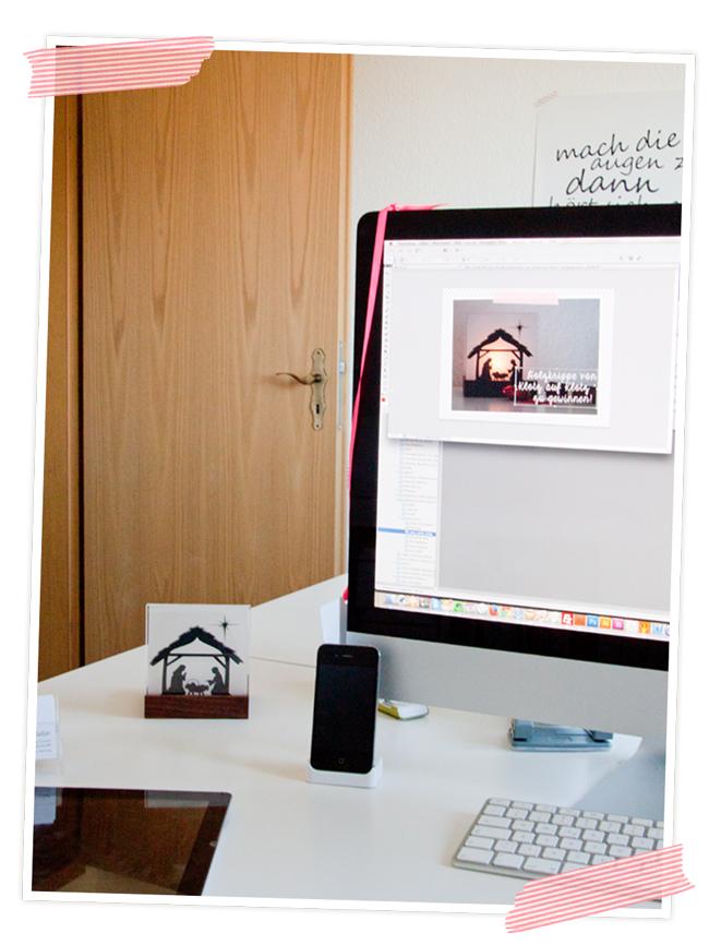 weihnachtskrippe mal anders die mini krippe von klotz auf. Black Bedroom Furniture Sets. Home Design Ideas