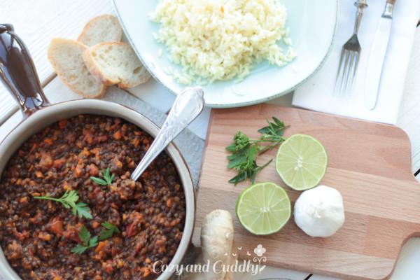 Schnelles und sehr leckeres indisches Linsengericht. Vegan und Gesund