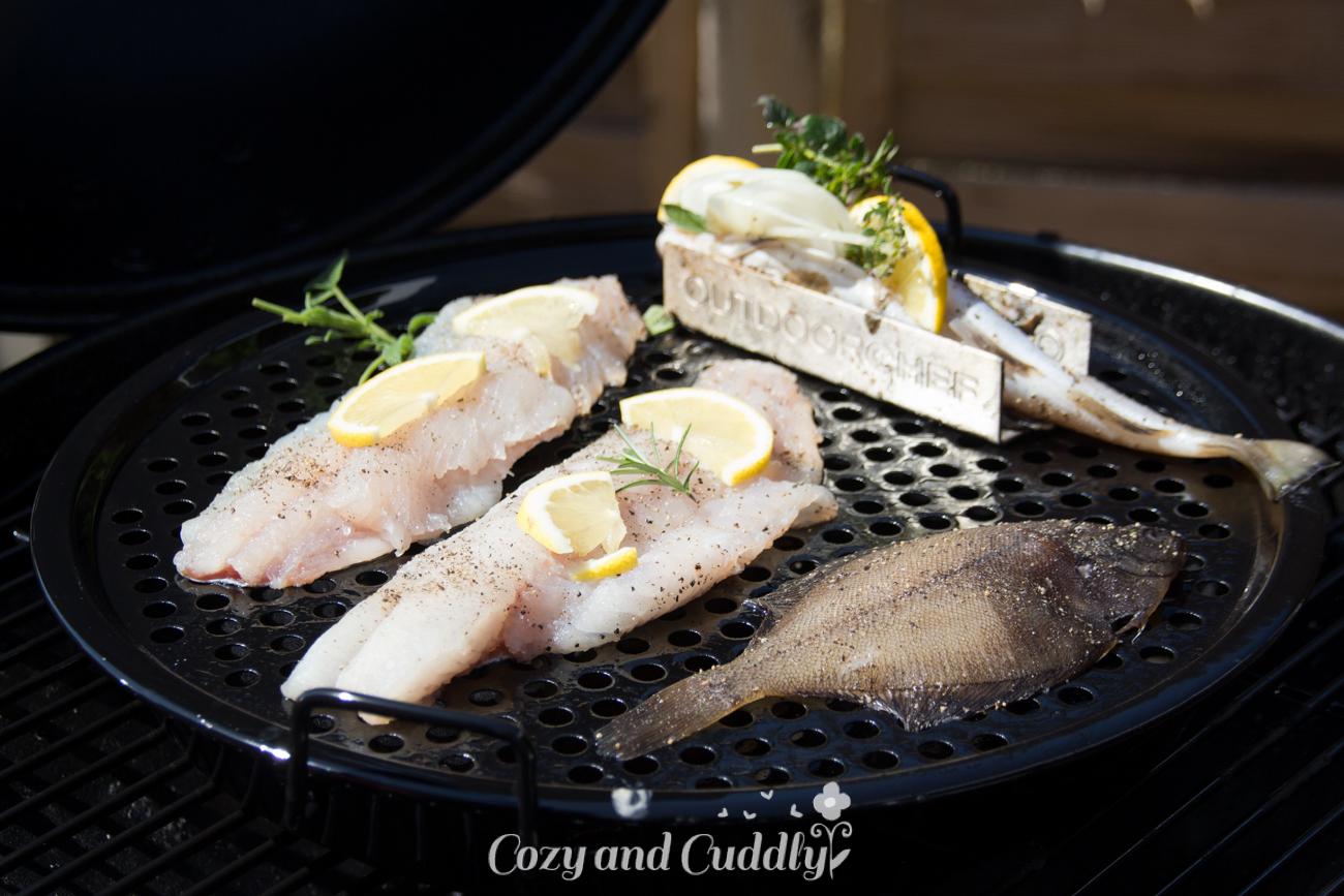 Fisch Gasgrill : Ein familiensommergrillfest mit frisch gefangenem fisch werbung